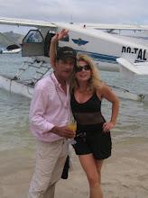 Photo: Adrienne Papp on Richard Evanson's Private Turtle Island, Fiji, 2008