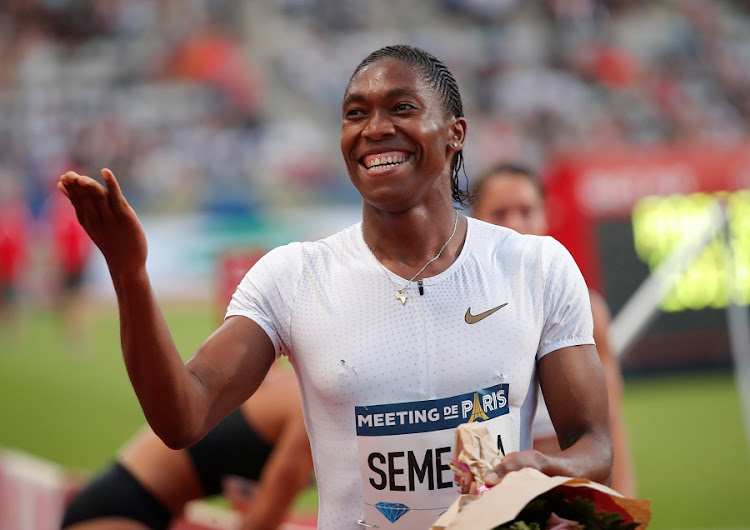 South Africa's Caster Semenya celebrates after winning the Diamond League women's 800m final at Charlety stadium on June 30 2018 Picture: REUTERS/CHARLES PLATIAU