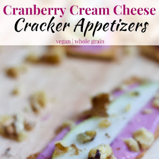 Cranberry Cream Cheese Cracker Appetizers.