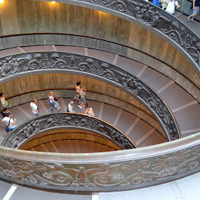 Vatican by Rita Uriel - Buildings & Architecture Other Interior ( stairs, rome, steps, vatican, italy )