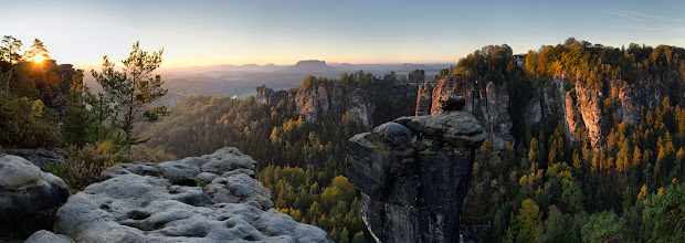 Photo: This time one panorama from Saxony last trip. Technical Details  210° Panorama from 7 vertical shots NodalNinja with Nikkor 10-24mm @ 24mm Lee .9 GND soft and Lee .6 GND soft stacked in Lee foundation holder