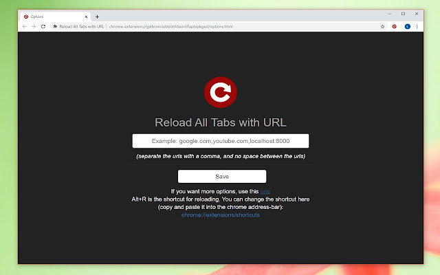 Reload All Tabs with URL