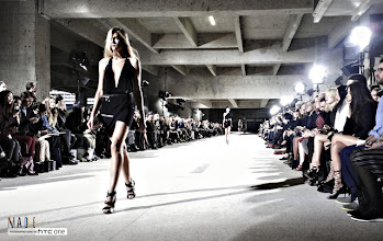 Photo: On the runway at Anthony Vaccarello S/S13