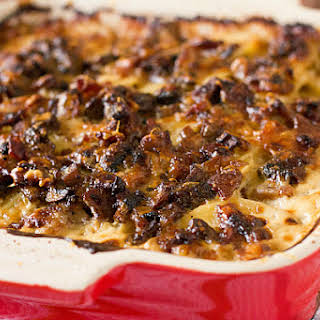 Bacon and Mushroom Potato Gratin.
