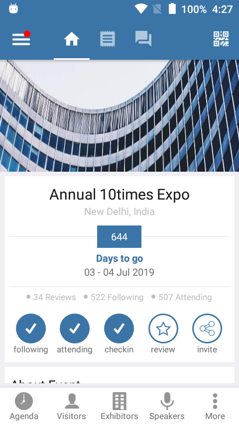 10times - Event App demo- screenshot
