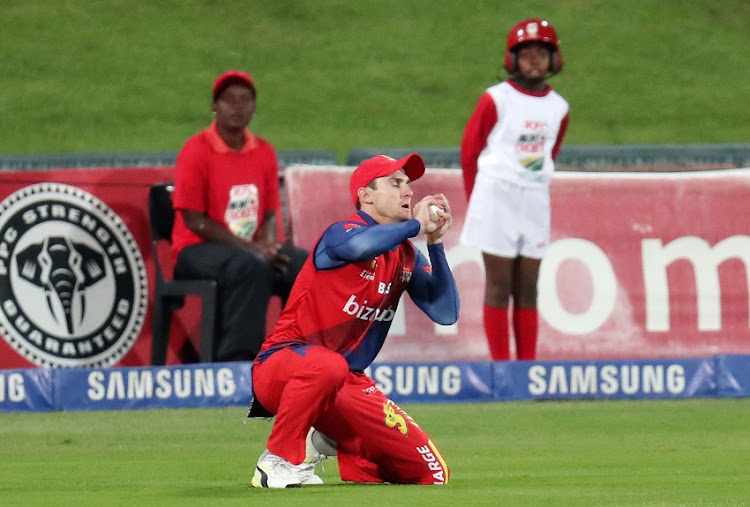 Nicky van den Bergh of the Lions catches Quinton de Kock of the Titans during 2017 T20 Ram Slam match between Multiply Titans and Bizhub Highveld Lions at Supersport Park, Pretoria South Africa on 12 November 2017.