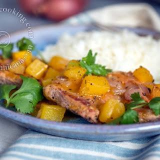 Pork Chops with Green Mango Salsa