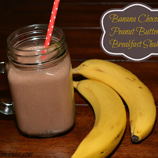 Banana Chocolate Peanut Butter Breakfast Shake