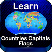 World Countries Capitals Flags Map Puzzles Quiz icon