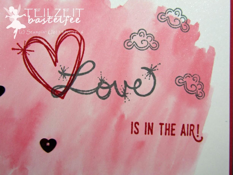 Stampin' Up! – In{k}spire_me #286, Valentine, Valentinstag, Love, Liebe, Watercolor, Pailletten, Love Sparkles, Abgehoben, Lift me Up