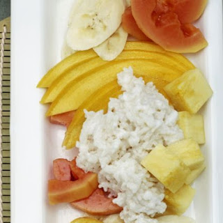 Coconut Rice with Exotic Fruit Salad.