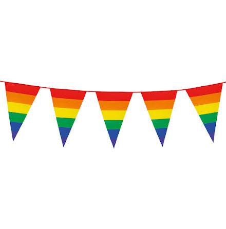 Flaggirlang, regnbågsflaggor 10m