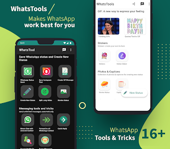 WhatsTool: #1 Tools & tricks for WhatsApp Mod 1.7.3 Apk [Unlocked] 2