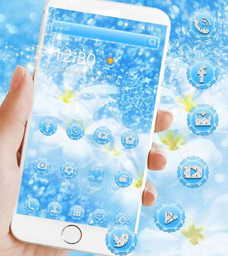 Blue Diamond Theme Wallpaper Glitter 1.1.3 7