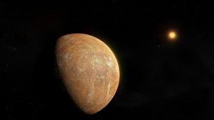 Concepción artística del planeta en torno a la estrella de Barnard (imagen de IEEC/Science-Wave-Guillem Ramisa).