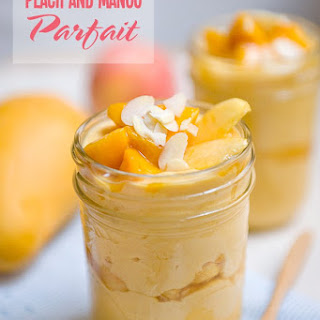 Peach and Mango Parfait.
