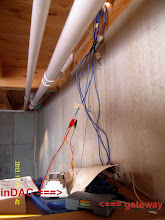 Photo: ... all 12 CAT 5 cables coming down into the basement.
