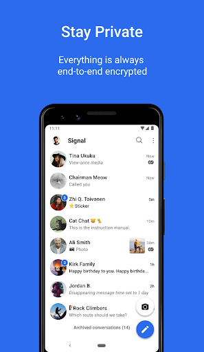 Signal Private Messenger 4.69.6 Screenshots 1