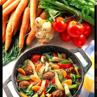 Meatball and Vegetable Soup.