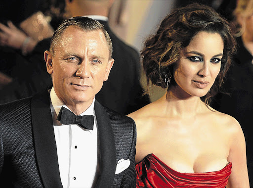 Daniel Craig and new Bond girl Berenice Marlohe. Skyfall, the latest James Bond movie, is breaking box office records Picture: PAUL HACKETT/GALLO IMAGES