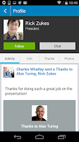 Screenshot of Socialcast