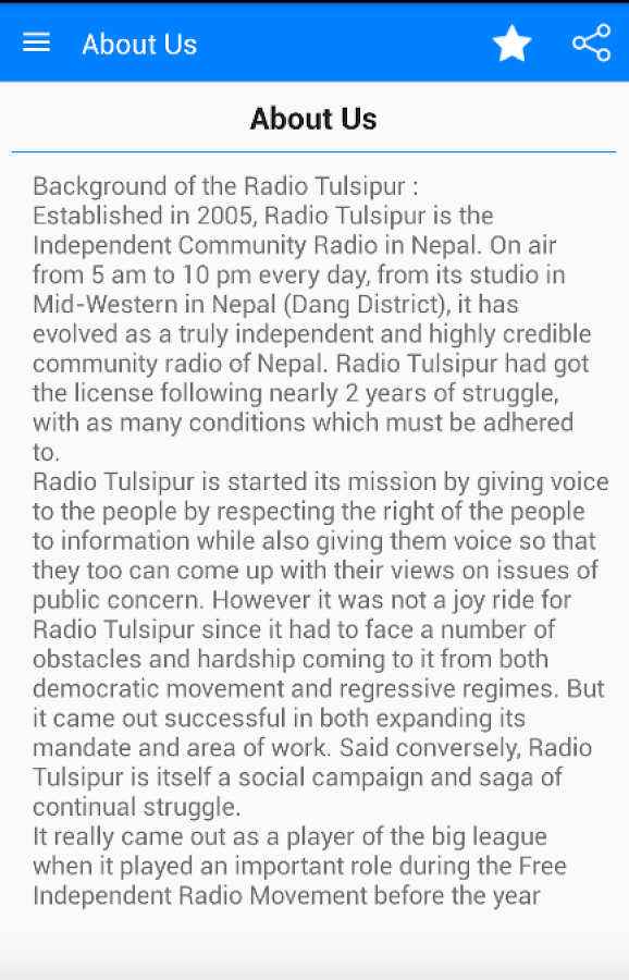 Radio Tulsipur- screenshot