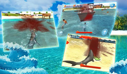 Shark Simulator Beach Attack