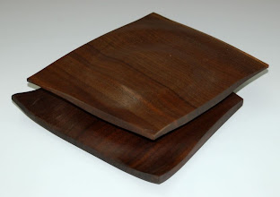 "Photo: Eliot Feldman - walnut square off-center box - 8"" x 7"""