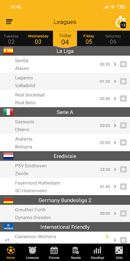 Live Soccer Scores 2.1.0 screenshots 1