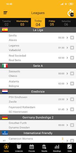 Live Soccer Scores 1.9 screenshots 1