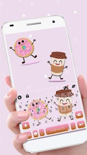 Coffee And Donut Keyboard Theme 1