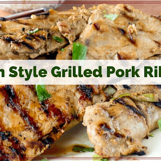 Grilled Asian Style Pork Riblets.