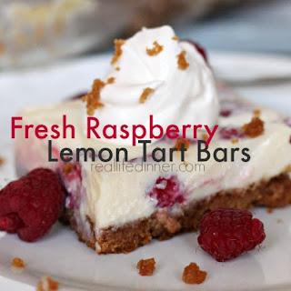 Fresh Raspberry Lemon Tart Bars.