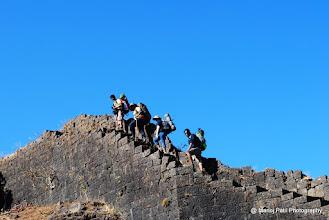 Photo: Walking on the walls of Torana....