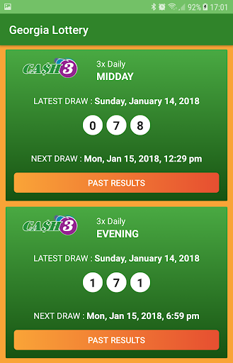 Georgia lottery cash 3 evening numbers