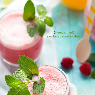 Raspberry Sherbet Party Punch Slush