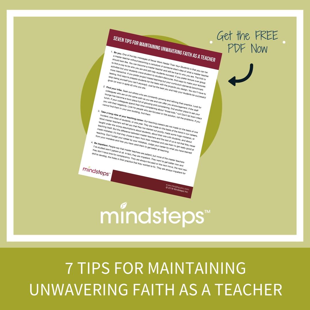 7 Tips for Maintaining Unwavering Faith as a Teacher