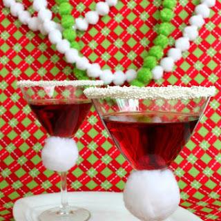 Santa Hat Martini - Pomegranate Martini.