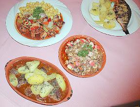 Photo: Chanfana, Dourade, Carne de Porco Alentejana