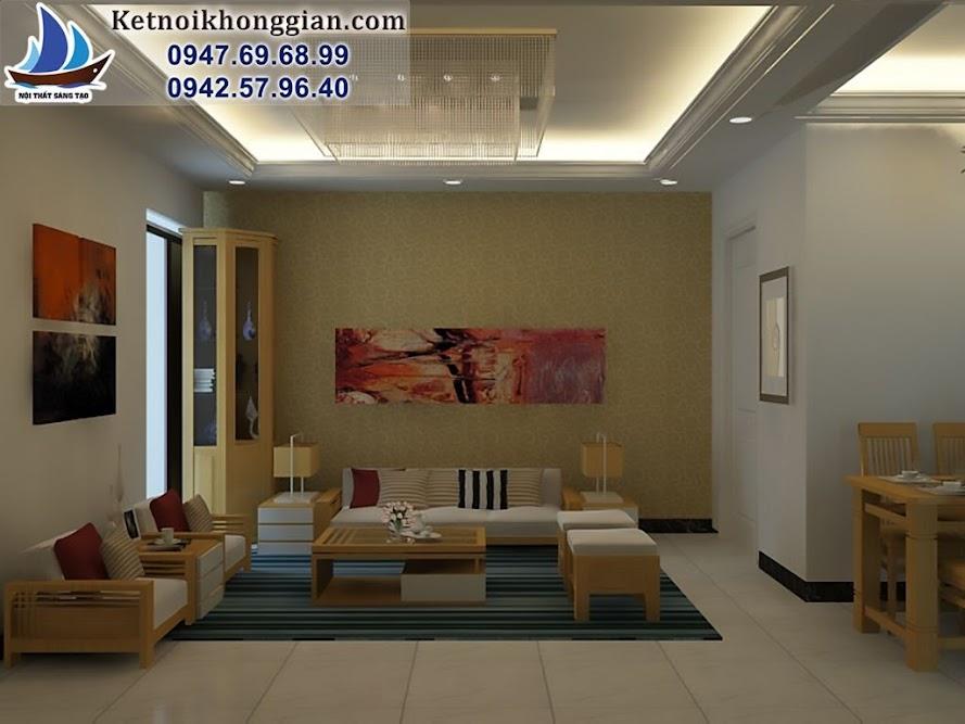 thiết kế căn hộ chung cư chị Hoa