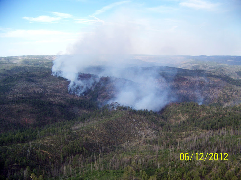 Photo: Bull flat fire in Arizona as seen from the air. Credit: Ron Morrison /Ron Morrison Date: May 16, 2012