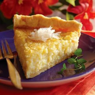 COCONUT FLAN PIE