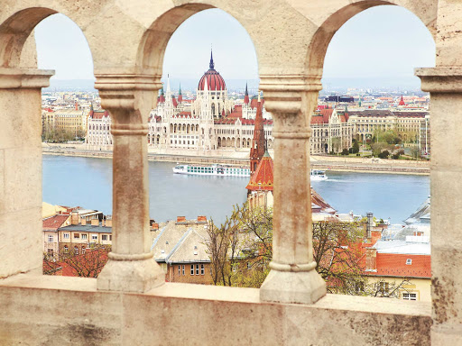 A look at Uniworld's River Beatrice as she sails through historic Budapest.