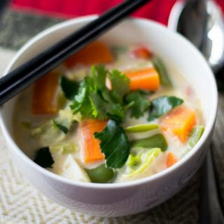 Tom Kha Veggie Soup, Thai Coconut Soup with veggies