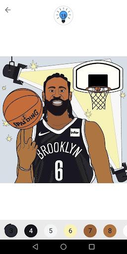 Coloring Basketball screenshot 3