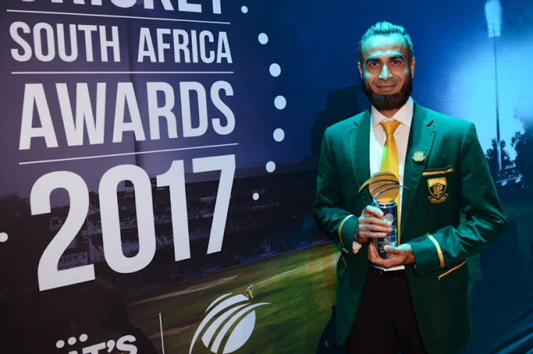 Standard Bank T20 International Cricketer of the Year, Imran Tahir during the CSA Awards 2017 at Theatre on the Track at Kyalami Race Track on May 13, 2017 in Johannesburg, South Africa.