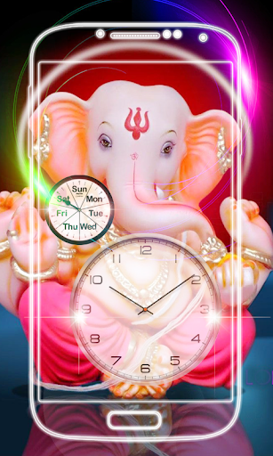 Ganesh Clock Live Wallpaper screenshot 7