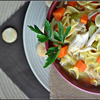 Loaded Chicken Noodle Soup.