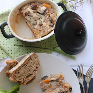 Rabbit Oporto Loaf with Apricots and Prunes.