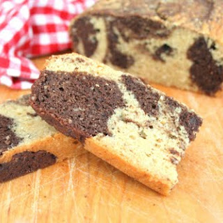 Marbled Peanut Butter Chocolate Loaf (Low Carb and Gluten Free)